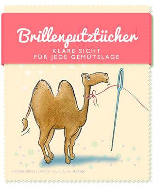 Brillenputztücher - Klare Sicht für jede Gemütslage - Nadelöhrkamel - Text und Illustration Judith Ganter - Verlag Rannenberg & Friends