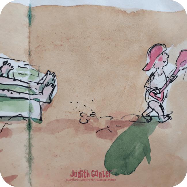 KREATIVE PROBLEMLÖSUNG KREATIVE BLICKWINKEL |Achtsamkeit & Humor- achtsamkeit im alltag üben - achtsamkeit im alltag übungen - kreative wahrnehmung trainieren - Judith Ganter Illustrationen aus Hamburg