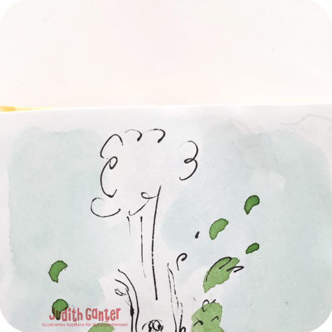 EINFACH VERPUFFT DIE GANZE GRAZIE - Achtsamkeit & Humor- achtsamkeit im alltag üben - achtsamkeit im alltag übungen - kreative wahrnehmung trainieren - Judith Ganter Illustrationen aus Hamburg
