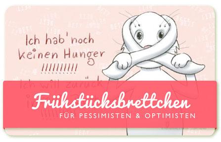 Frühstücksbrettchen für  Optimisten & Pessimisten - armer Hase - Text und Illustration Judith Ganter - Verlag Rannenberg & Friends