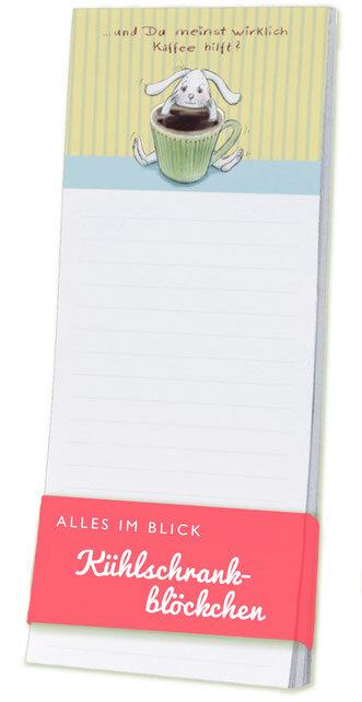 Kühlschrankblöckchen - Alles im Blick - müder Hase -Text und Illustration Judith Ganter - Verlag Rannenberg & Friends