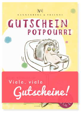 Viele, viele Gutscheine - Wellness-Igel - Text und Illustration Judith Ganter - Verlag Rannenberg & Friends