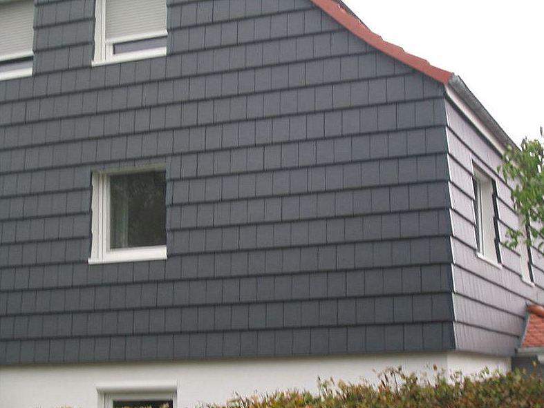 Fassadenbekleidung mit Tonziegel
