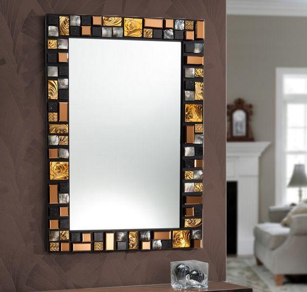 Mosaico vitrales vitrolero for Conjunto de espejos decorativos