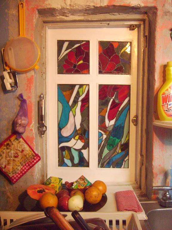 Vitral Interior Cocina - Cinta de Cobre - Colección Particular - Col. Cuauhtémoc 2010