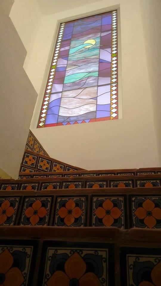 Ventanal, Vitral Emplomado, 300 x 120 cms, Malinalco, Estado de México. Coleccion particular. 2015