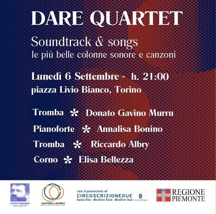 Una piazza, 100 piazze ospita il concerto SOUNDTRACK & SONGS: lunedì 6 settembre