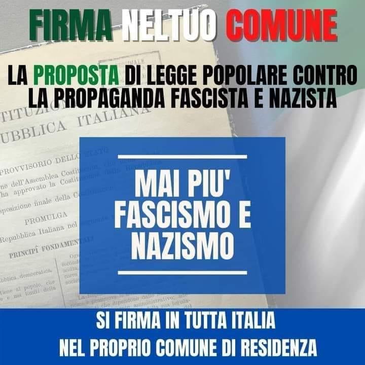 Progetto di legge contro fascismo e nazismo