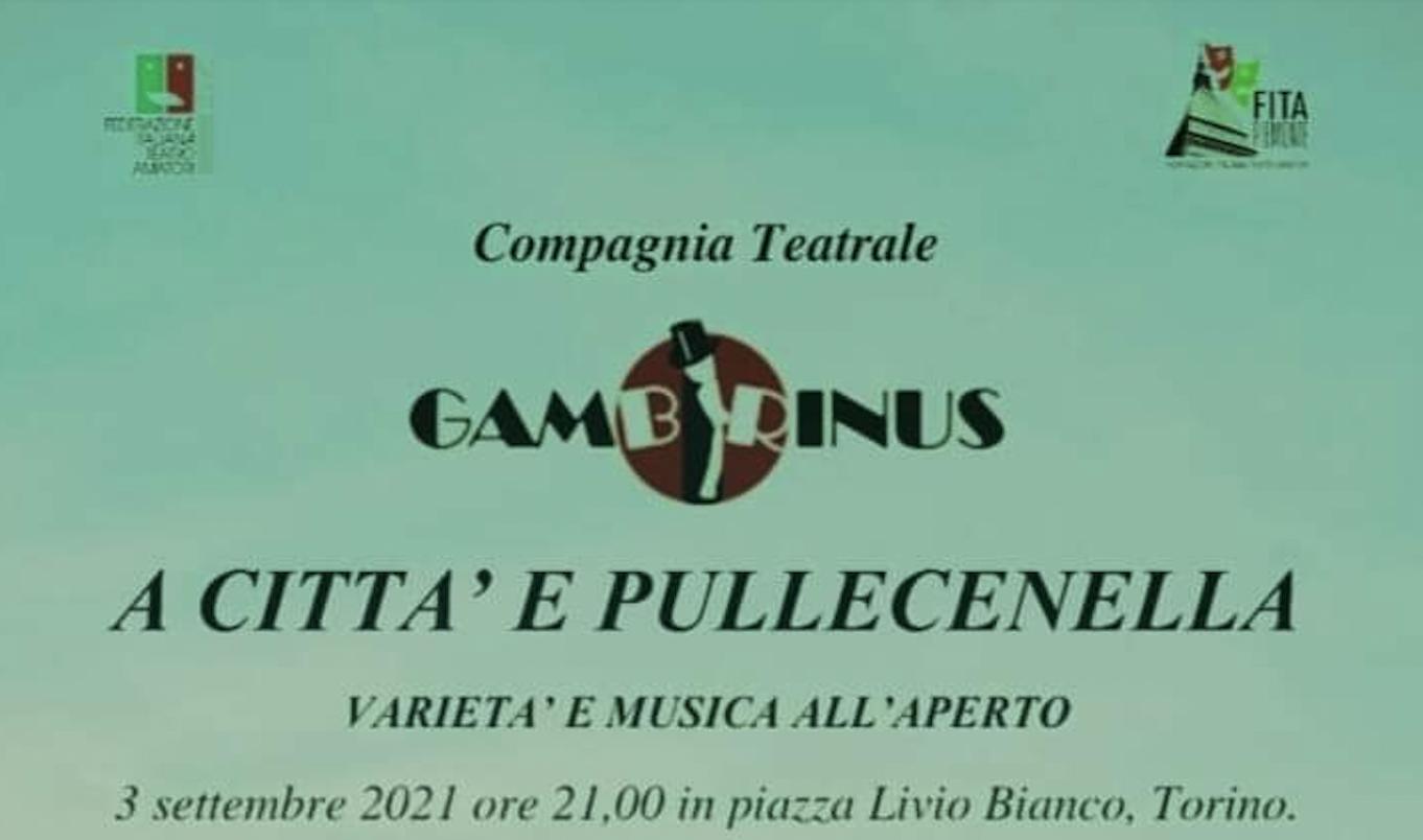 """""""A città e Pullecenella"""": il 3 settembre in Piazza Livio Bianco"""