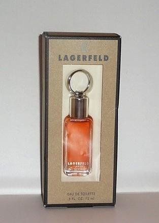 LAGERFELD - EAU DE TOILETTE 15 ML - FLACON AVEC BOUCHON ANNEAU