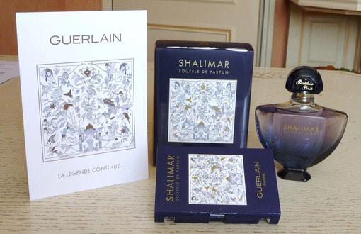 2014 - SHALIMAR SOUFFLE DE PARFUM - FLACON EAU DE PARFUM 50 ML, ECHANTILLON ET CARTE PARFUMEE