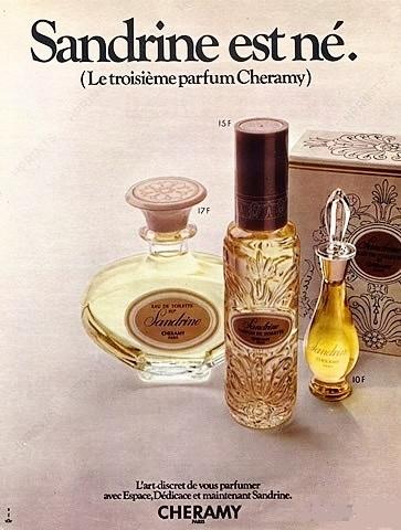 CHERAMY - SANDRINE LE 3ème PARFUM DE CHERAMY, CREE EN 1970