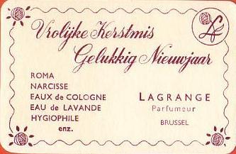 LAGRANGE PARFUMEUR - BRUXELES