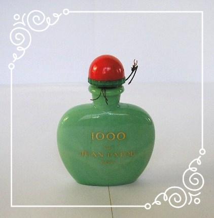 """""""1000"""" DE PATOU - PETIT FLACON 1ère TAILLE ou MINIATURE EN OPALINE VERTE"""