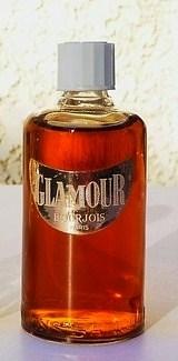 BOURJOIS - GLAMOUR :  GROSSE MINIATURE AVEC BOUCHON EN BAKELITE VISSE