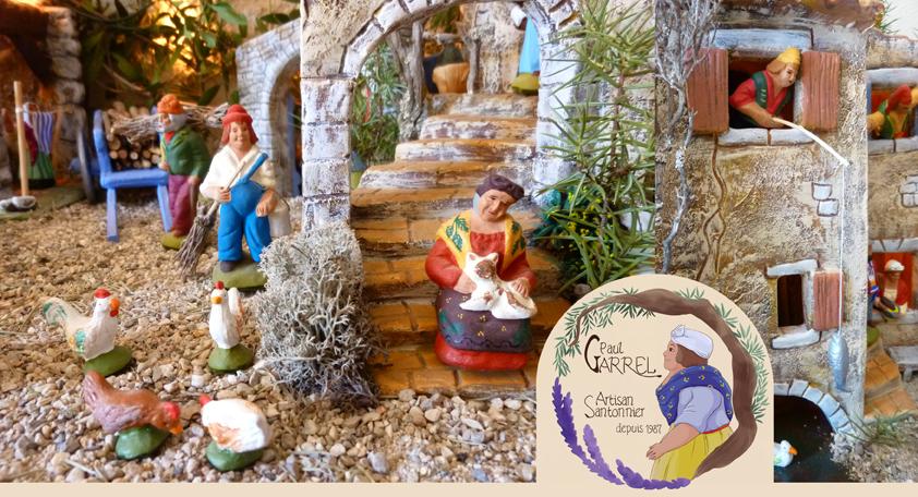 Village et crèche provençale - Paul Garrel artisan santonnier