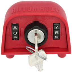 SUDHAUS Deckeloberteil 2310 mit Zahlenkombination und Schließzylinder. Mülltonnen kann ohne Schlüssel geöffnet werden.