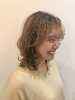 前髪ニュアンスパーマ
