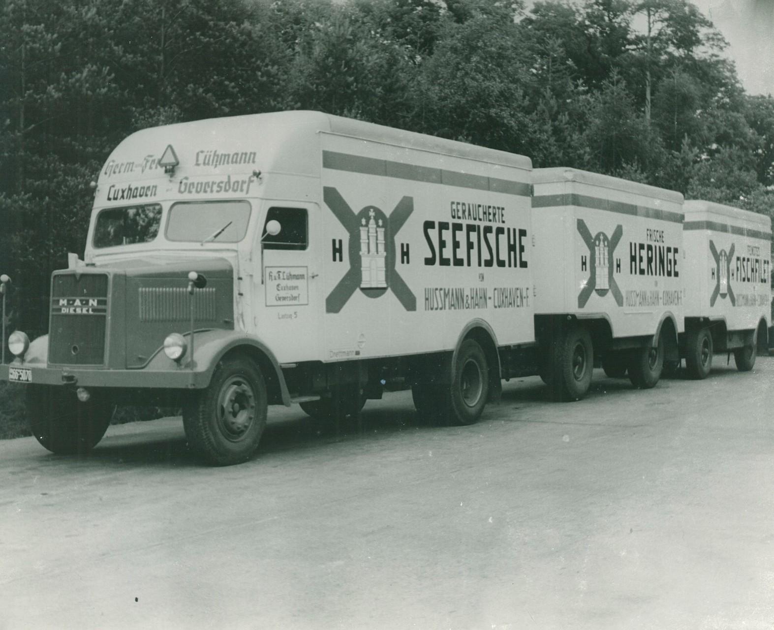 """1950 - Einstieg in die """"Logistik rund um den Fisch"""""""