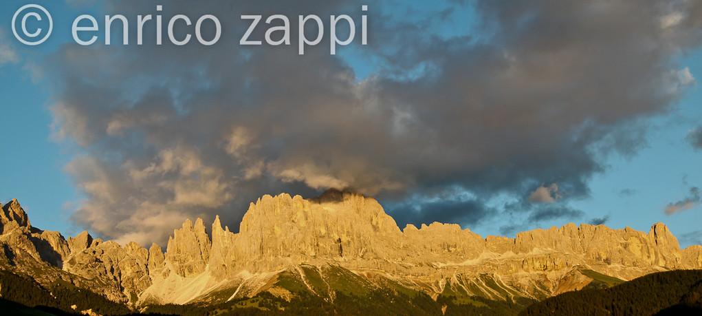 Valle di Tires: Il Gruppo del Catinaccio verso il tramonto