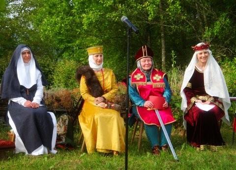 Die Gräfinnen  von Sponheim mit Balduin von Luxemburg
