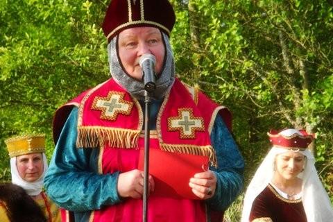 Sigrid Schulte als Balduin von Luxemburg