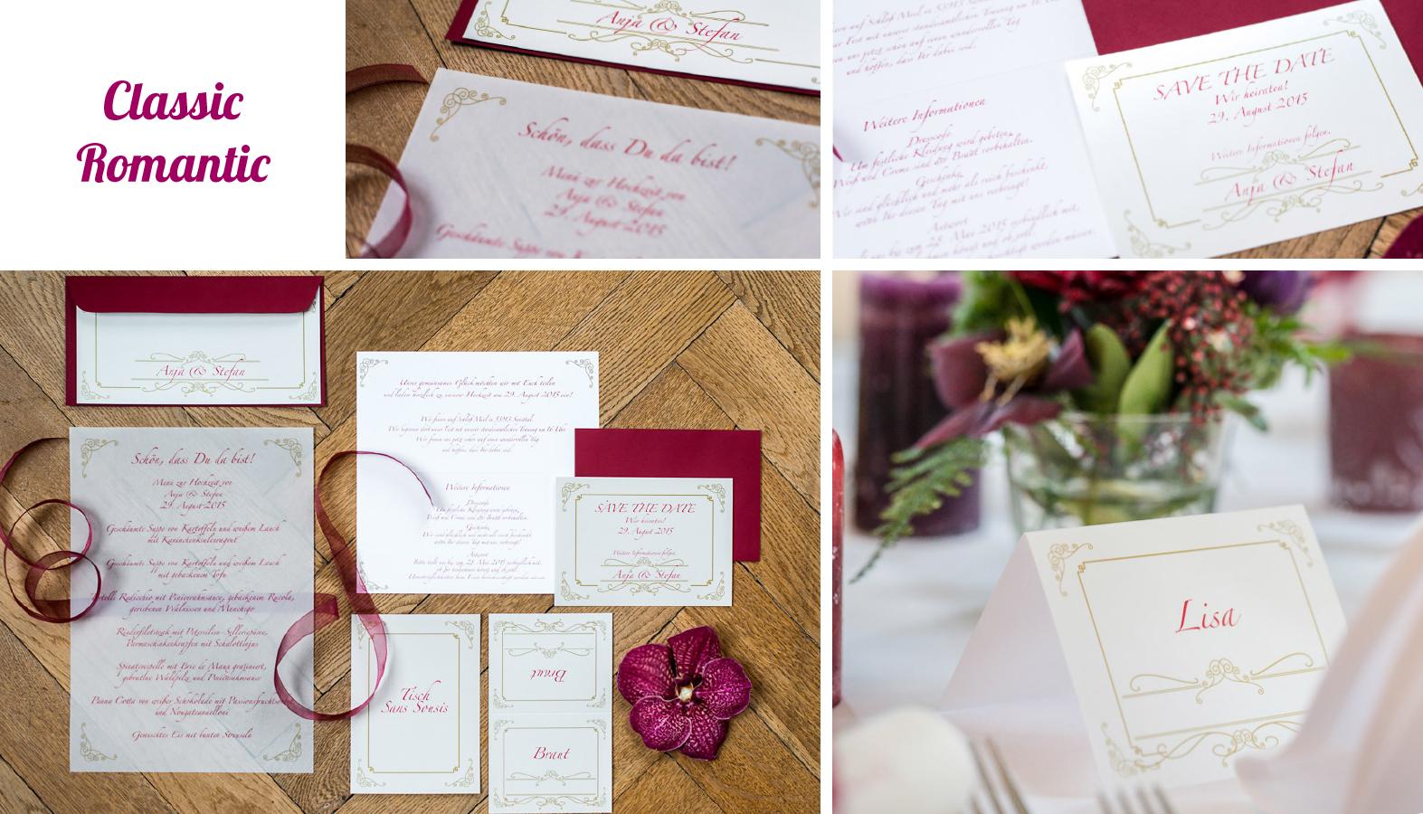 Hochzeitseinladungen Romantisch