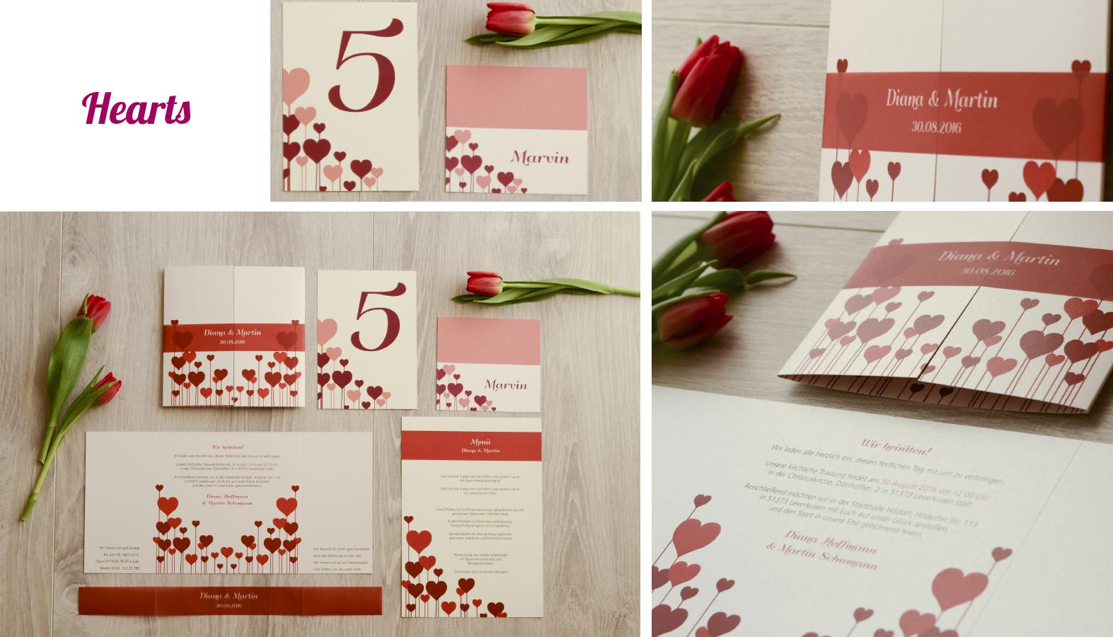 Hochzeitseinladungen Herz