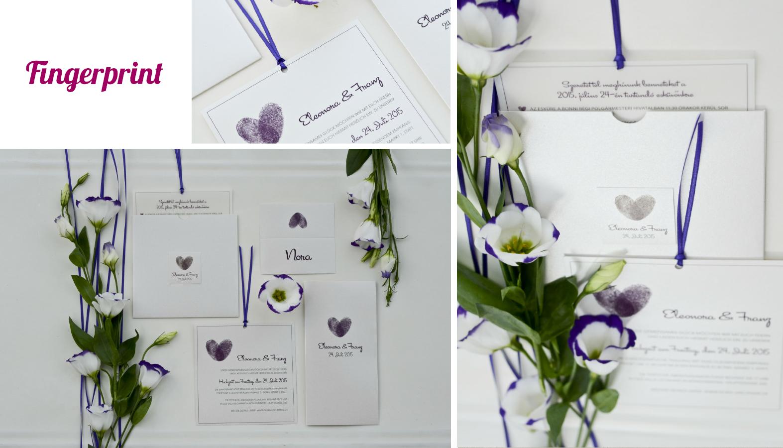 Hochzeitseinladungen Fingerabdruck