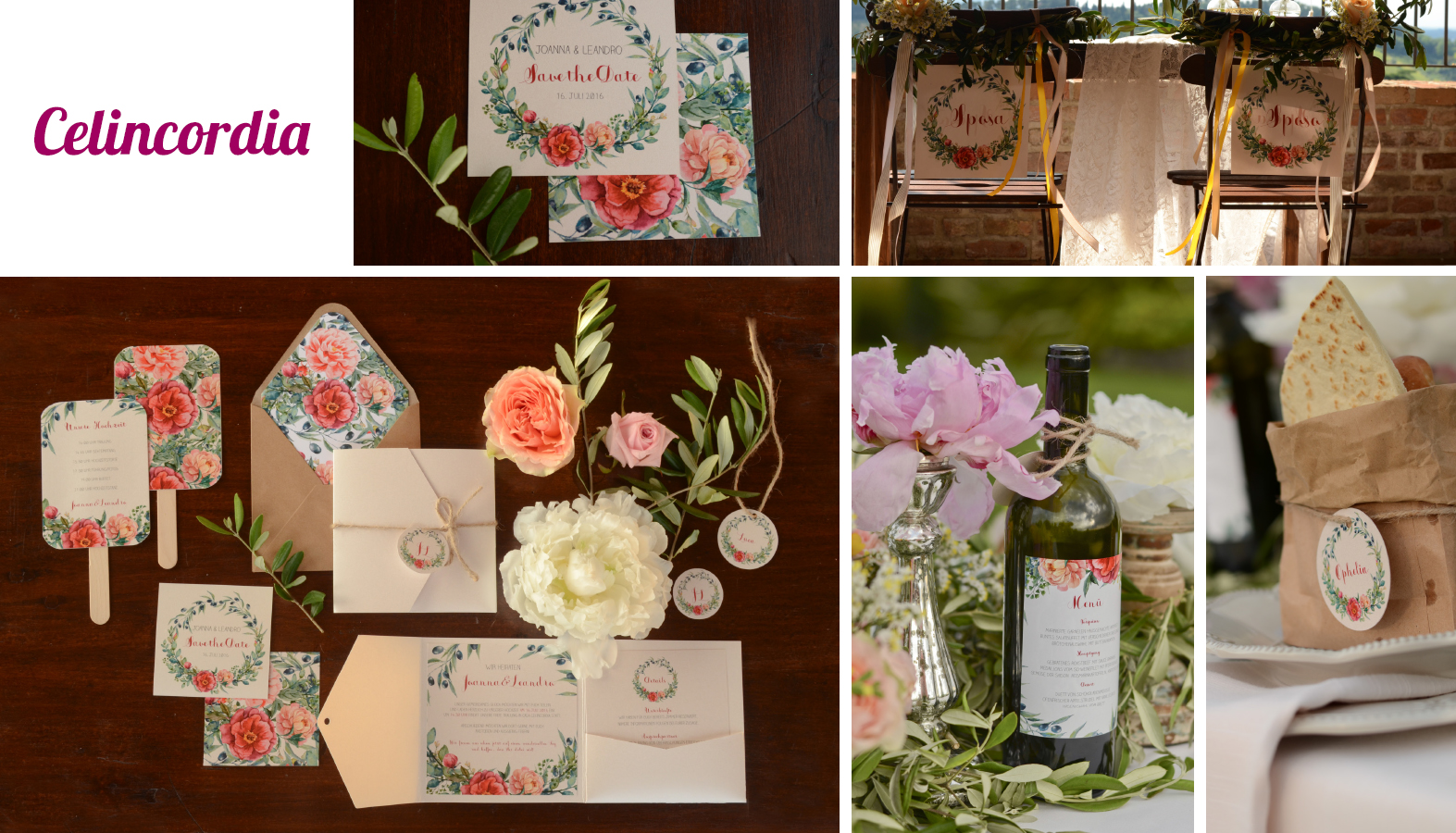 Hochzeitseinladungen Blumen Celincordia