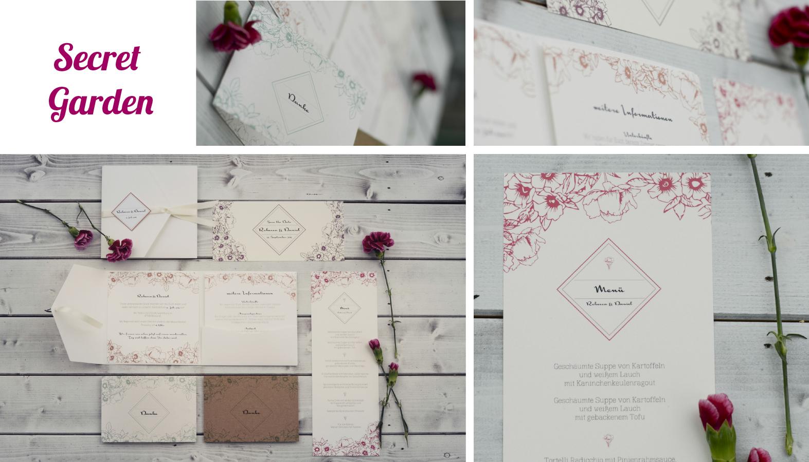 Hochzeitseinladungen Garten