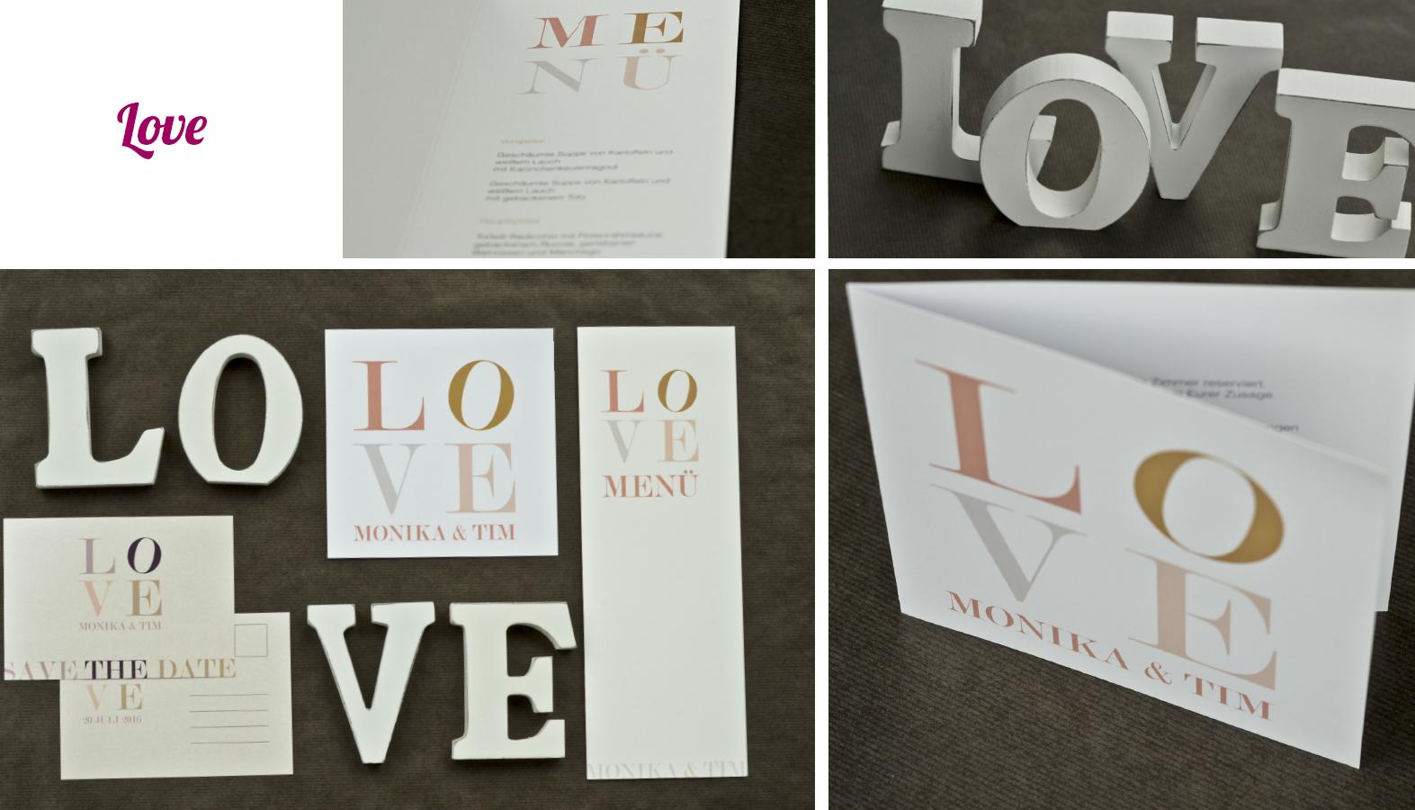 Hochzeitseinladungen LOVE