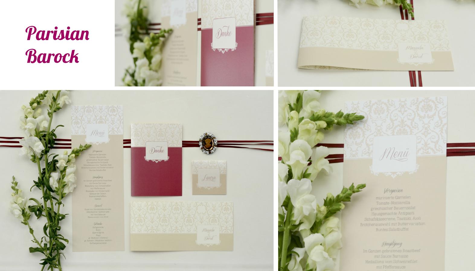 Hochzeitseinladungen Barock