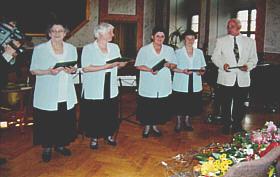 Frau Elisabeth Günther / Frau Rosemarie Schingnitz / Frau Gudrun Adam / Frau Ruth Zimmermann / Herr Dr. Hans Krämer (von links)