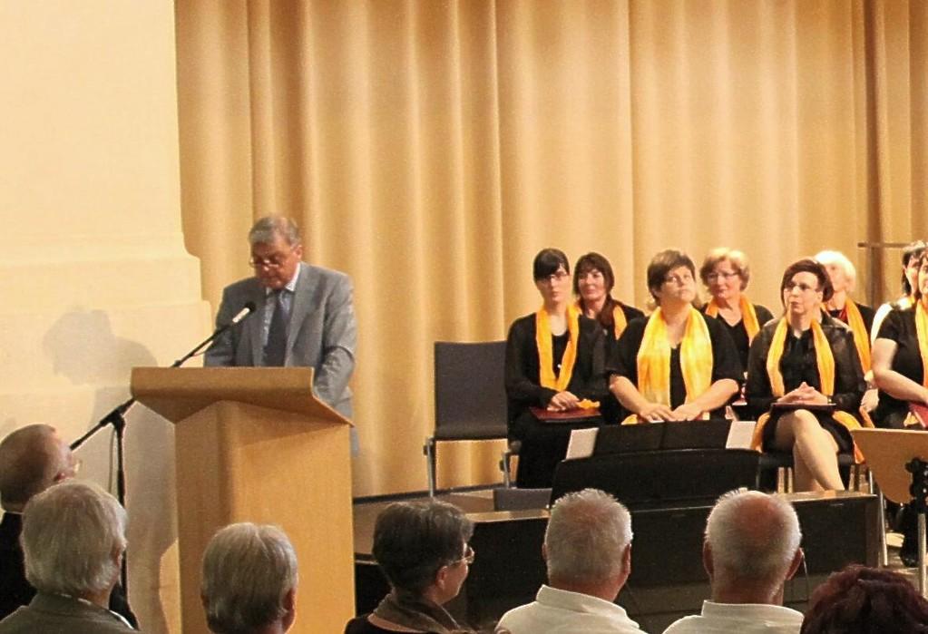 Oberbürgermeister Schramm bei seiner Rede