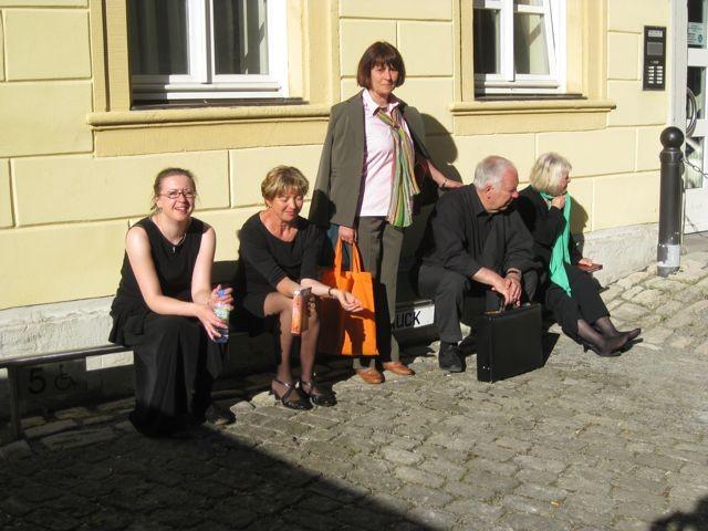 Konzert in der Christuskirche Hildburghausen, nach der Probe