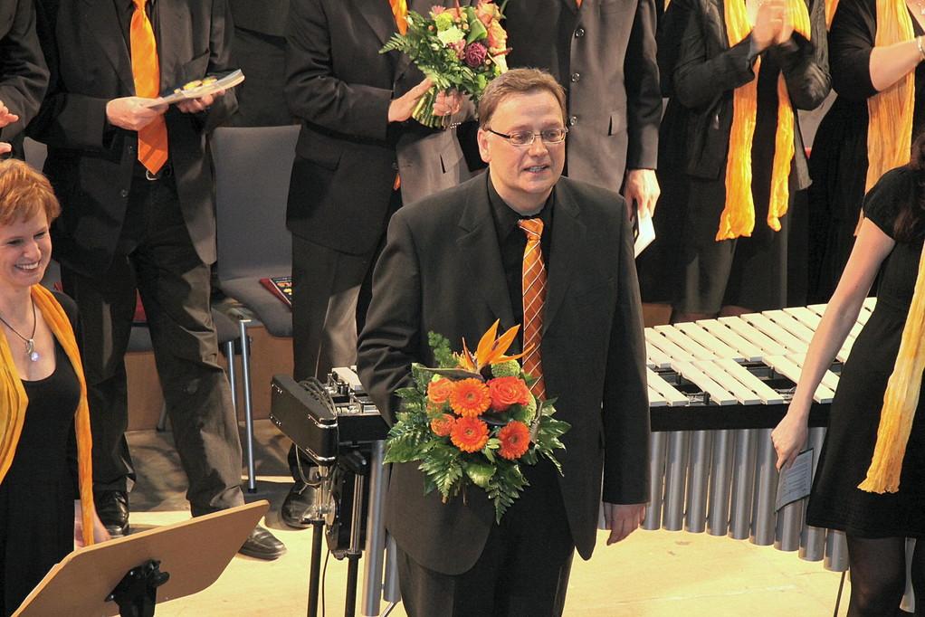 Konzert gelungen - musikalischer Leiter Peter Rülke glücklich!