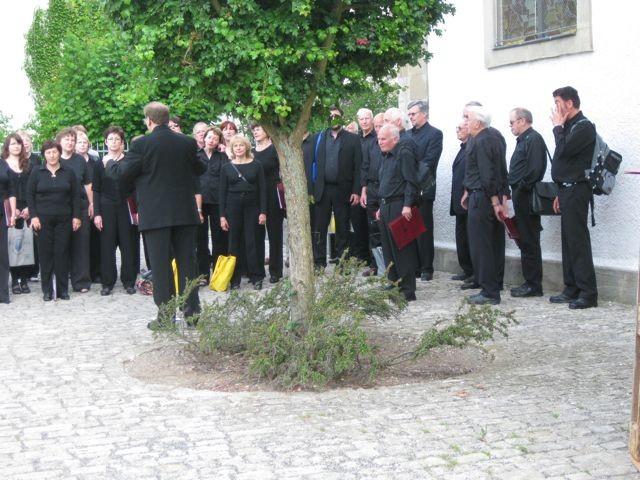 morgentliches Einsingen zum Gottesdienst in der Christuskirche