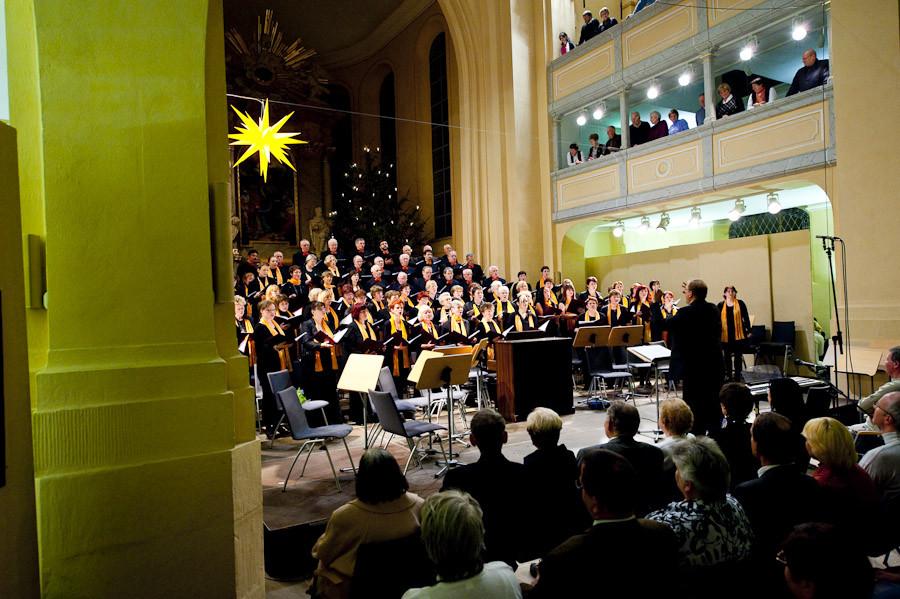 Weihnachtskonzert Stadtchor Freiberg e.V. in der ausverkauften Nikolaikirche