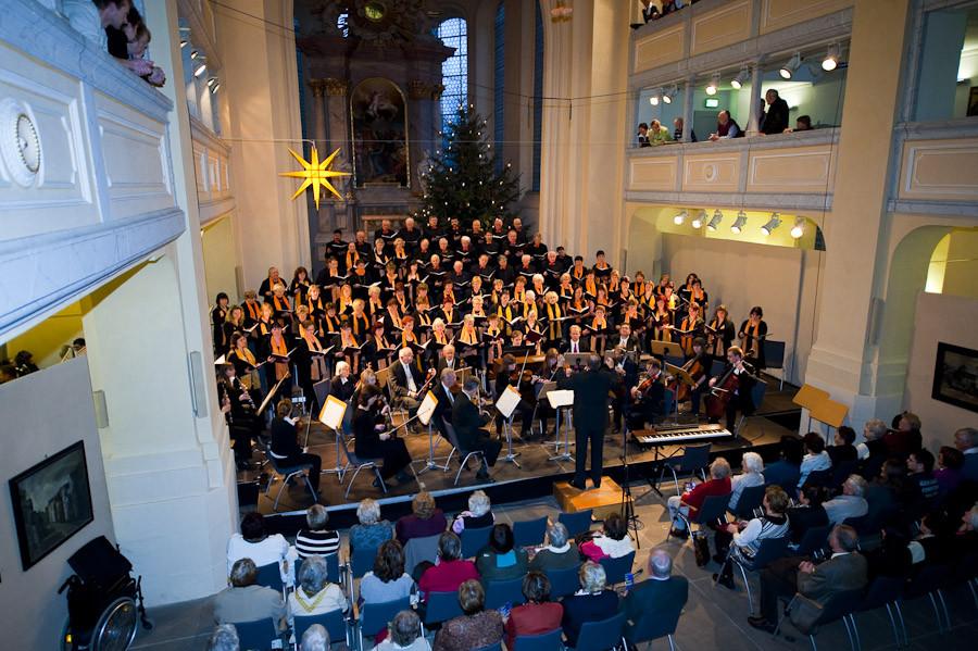 Stadtchor Freiberg e.V. mit dem Collegium Musicum - Blick aus dem 1. Rang