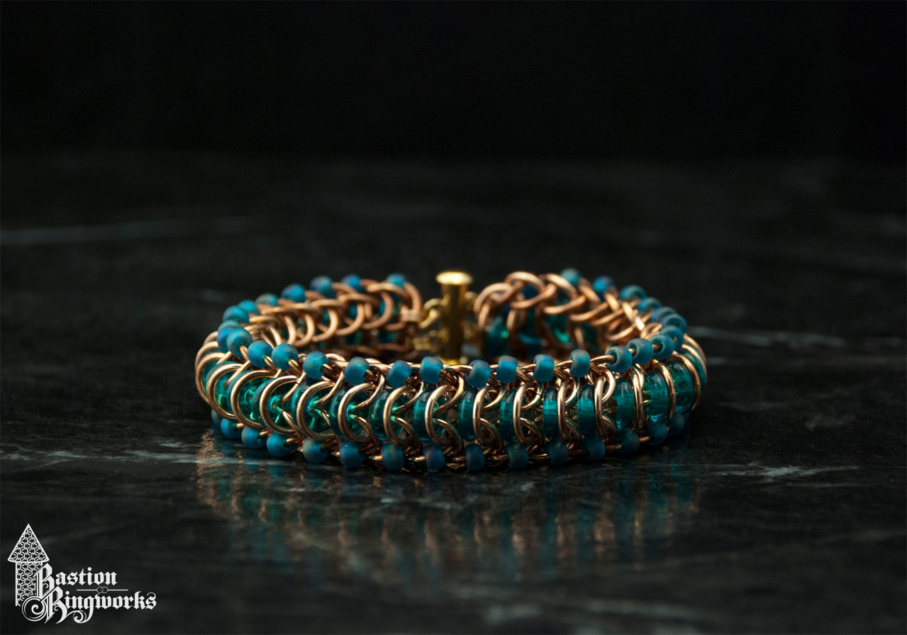Bronze Glass Tunnel with teal