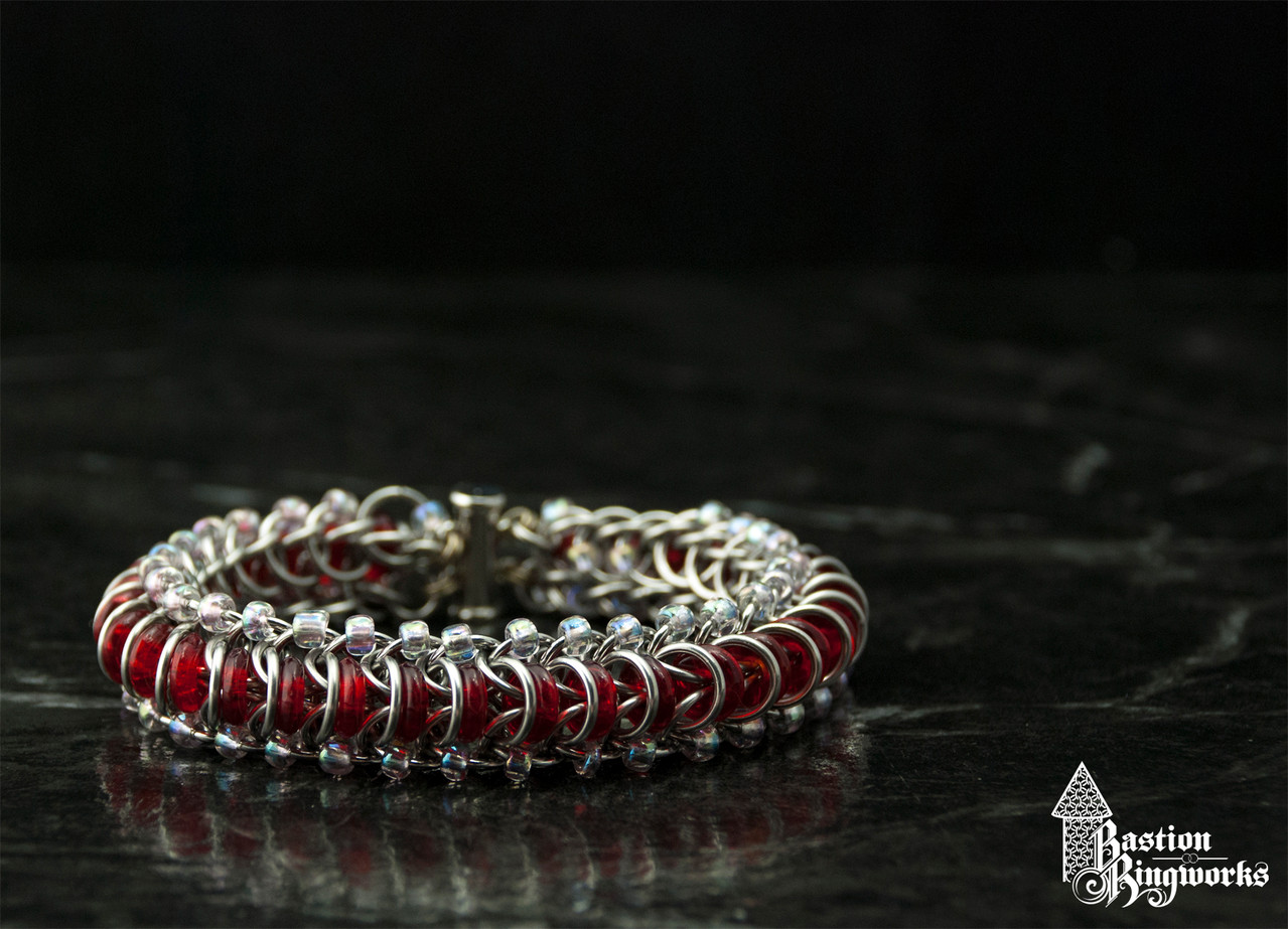 Stainless Glass Tunnel with red & pink