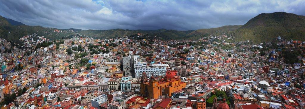 Guanajuato - Panoramic view from the Outlook