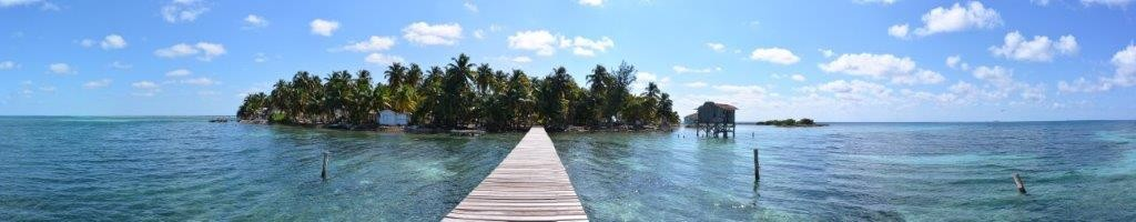 Tobacco Caye Panoramic view