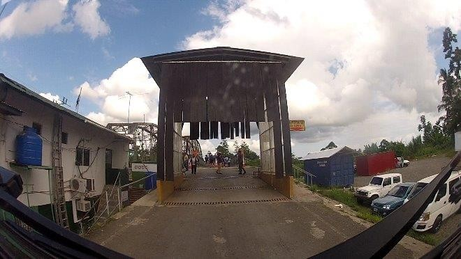 Border crossing to Costa Rica on the Caribbean side