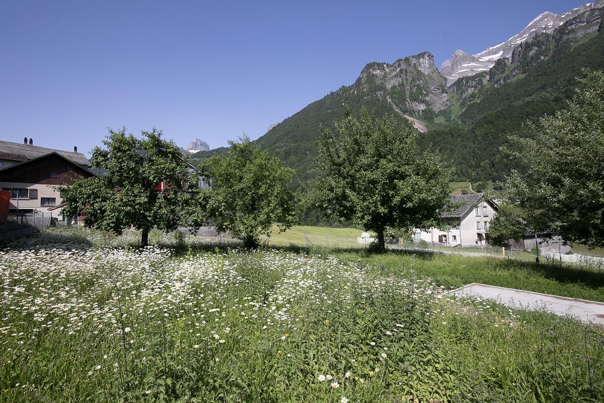 Aussenbereich im Dorf Haslen