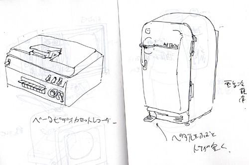 ベータビデオカセットレコーダー 電気冷蔵庫