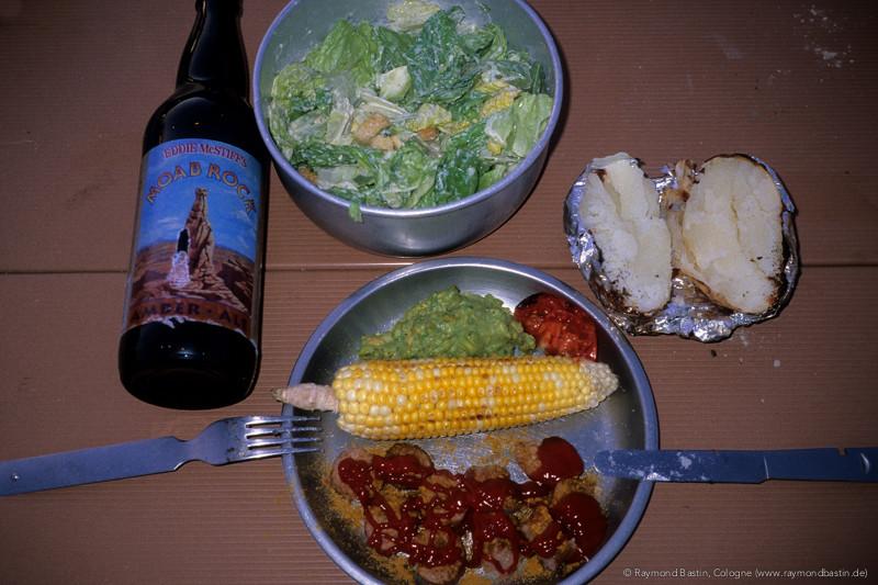 Auch beim Camping: ohne Currywurst geht´s nicht!