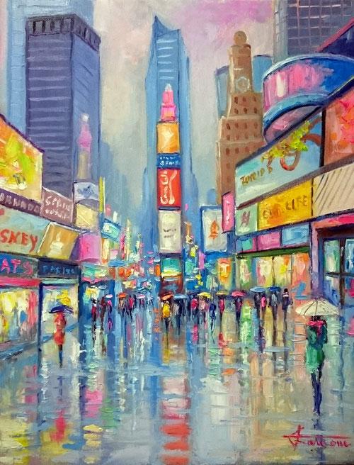 Times Square NY olio su tela cm 50x40 (Giuseppe Faraone)