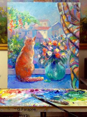 gatto dipinto